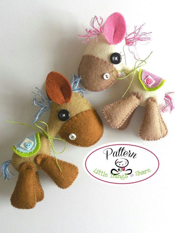 Horsy PDF sewing pattern-DIY-Felt Horse toy by LittleThingsToShare
