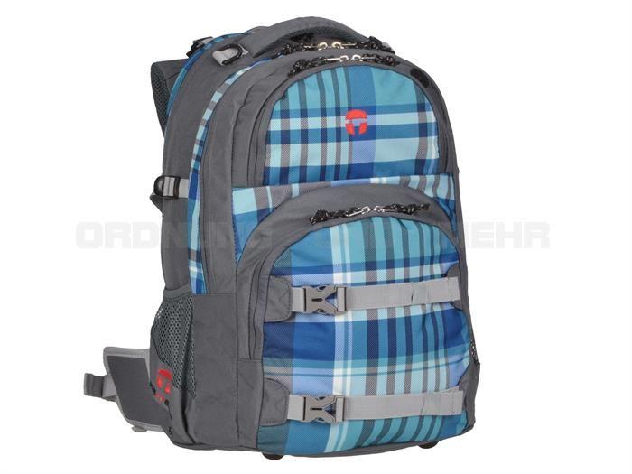 Take it Easy ATLANTIC - Schulrucksack OSLO FLEX Schulranzen DER NEUE - türkis blau kariert