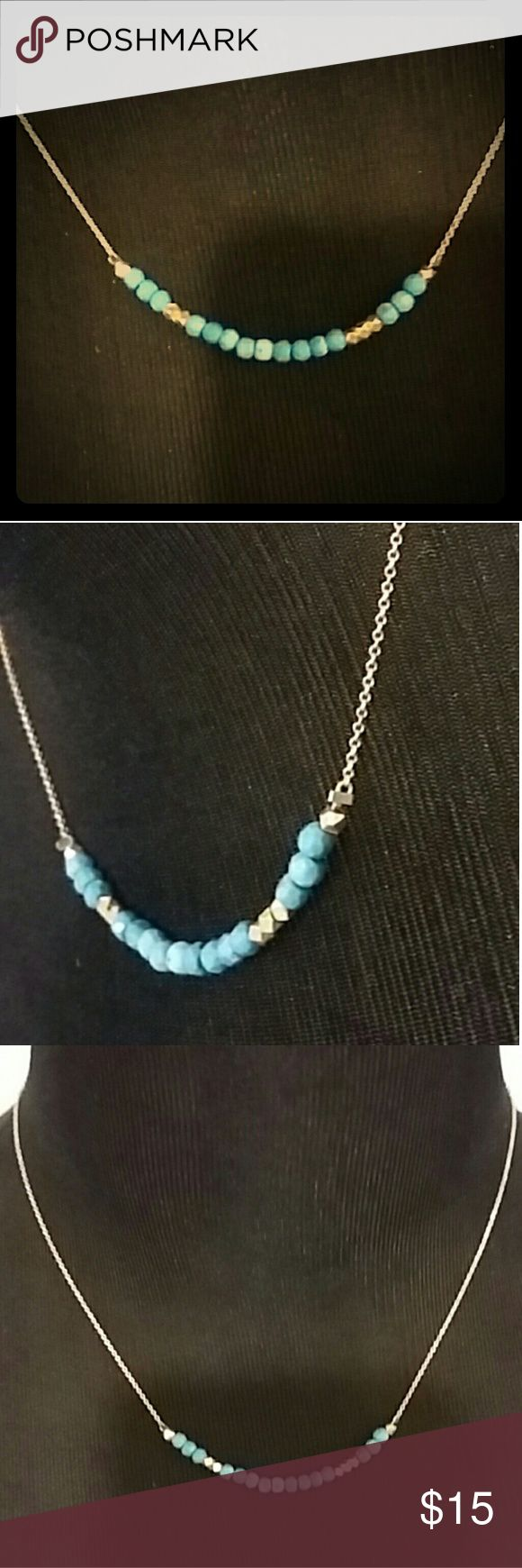 """Cute Morsecode """"I love you"""" gold and teal necklace Cute Morsecode """"I love you"""" gold and teal necklace Jewelry Necklaces"""