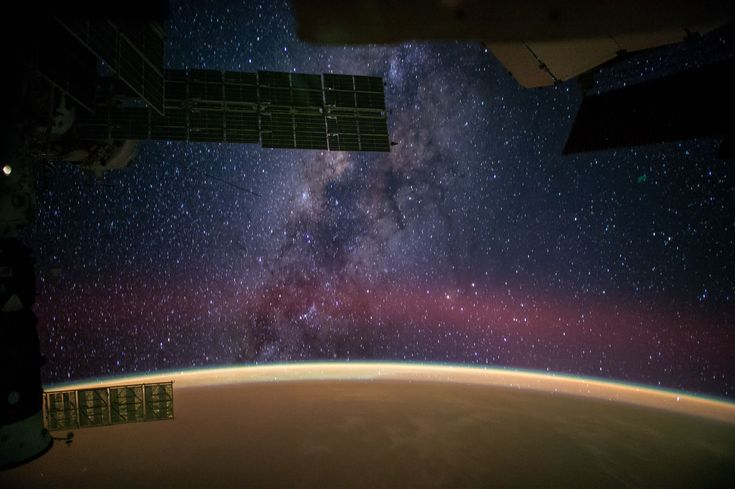 """""""Milky Way Viewed From the International Space Station"""" by NASA astronaut Reid Weisman.  Found at NASA's Photo of the Day"""