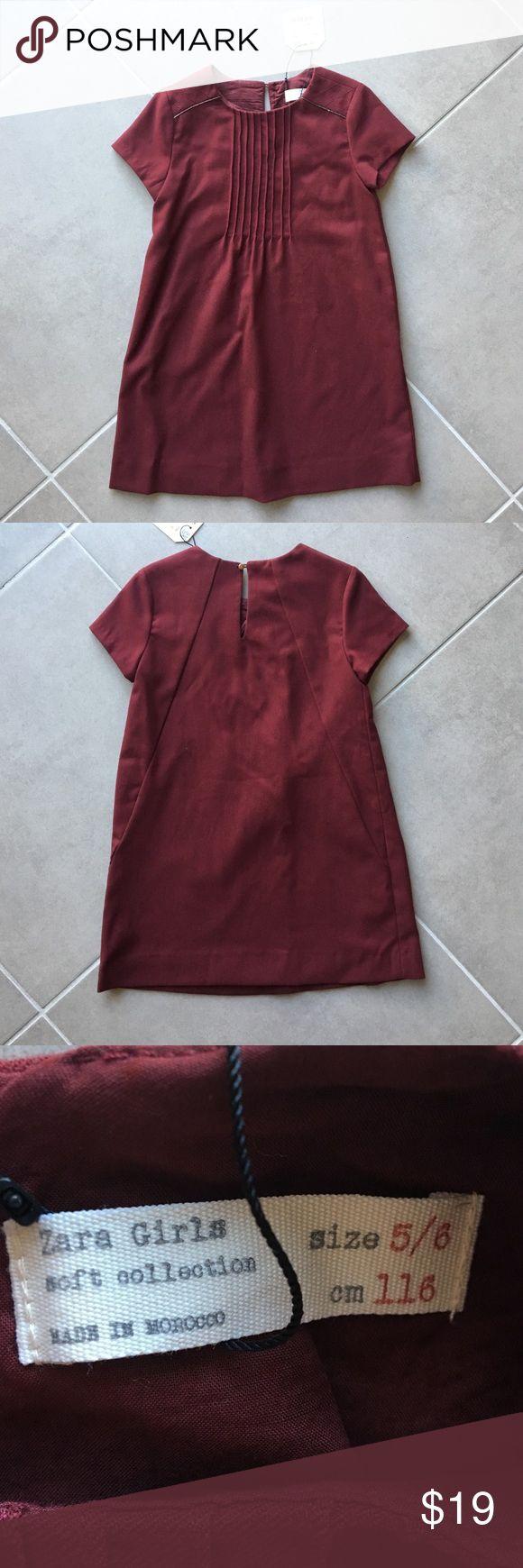 Zara Girls dress Dark red dress, never worn, tags attached. Zara Dresses