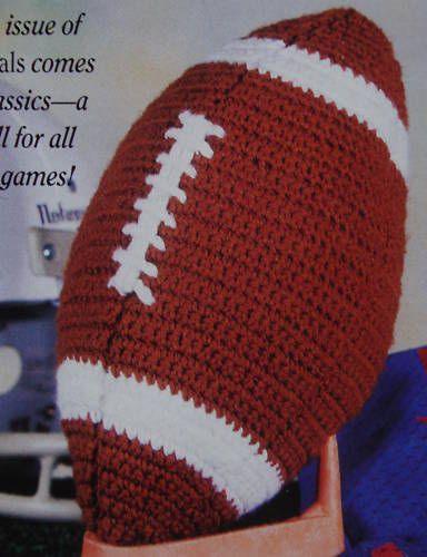 Crochet Pattern For Football Blanket : 17 of 2017s best Crochet Football ideas on Pinterest ...