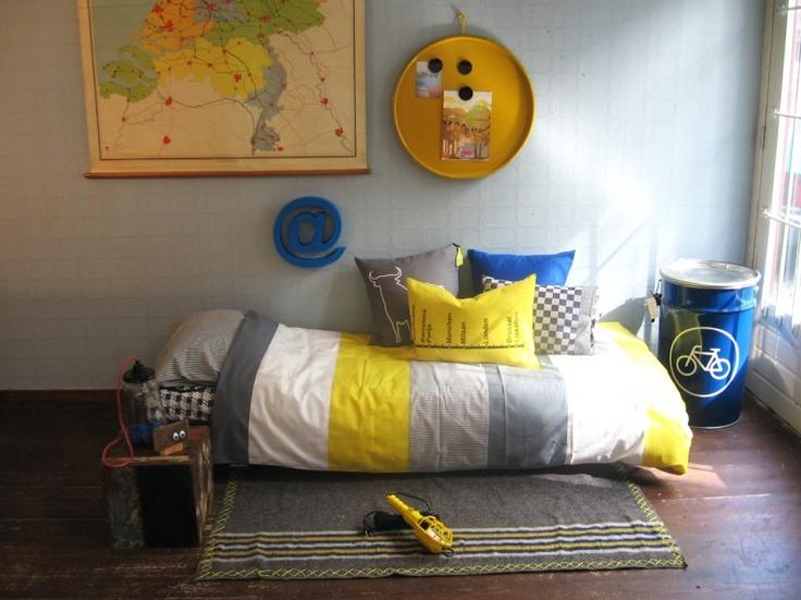 Tante Ted dekbedovertrek Toro geel | Beddengoed kinderkamer | Tante Ted