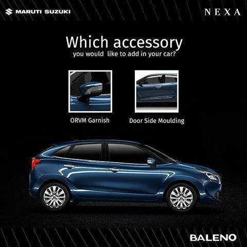 How would you like your #Baleno to be? ORVM Garnish or Door Side Moulding?
