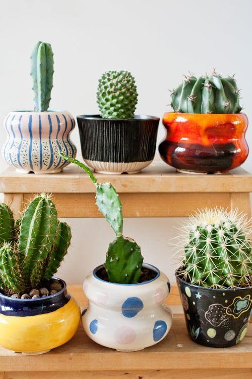 Flower pots 1-6 Earthenware