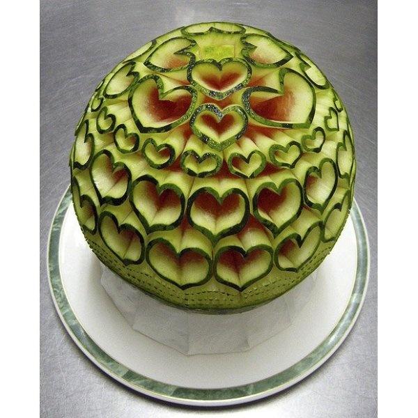 Love: Fruitart, Carvings Watermelon, Watermelon Art, Heart Art, Watermelonart, Watermelon Carvings, Fruit Art, Foodart, Food Art