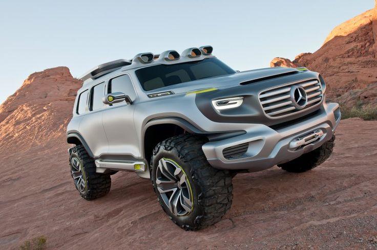 Mercedes-Studie Ener-G-Force: Seit 1979 baut Mercedes den kantigen Allradler...