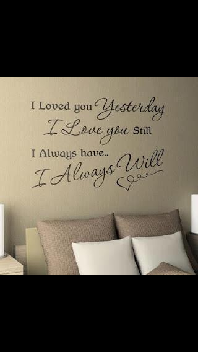 I would love the master bedroom to have something like this but with Scripture.