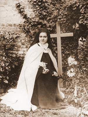 """""""To think ourselves imperfect, and others perfect--that is happiness. That creatures recognize we are without virtue takes nothing from us, makes us no poorer; it is they who by this lose interior joy; for there is nothing sweeter than to think well of our neighbor."""" ~ St. Therese of Lisieux"""
