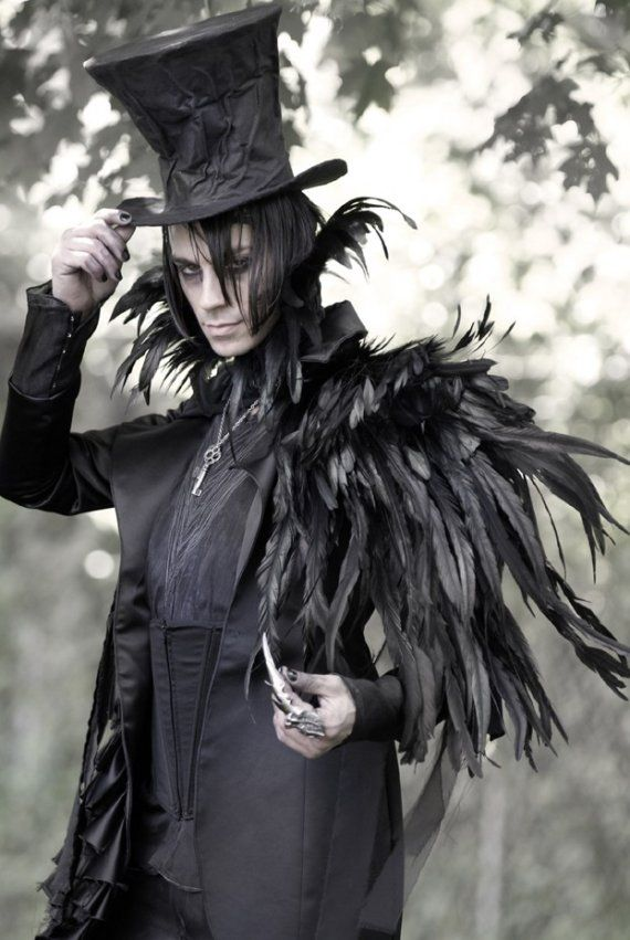 5dd77b78eb54dd STEAMPUNK FASHION FOR MEN | So, steampunk is a genre and a design  aesthetic. | just cool stuff. lol | Costumes, Raven costume, Halloween  costumes