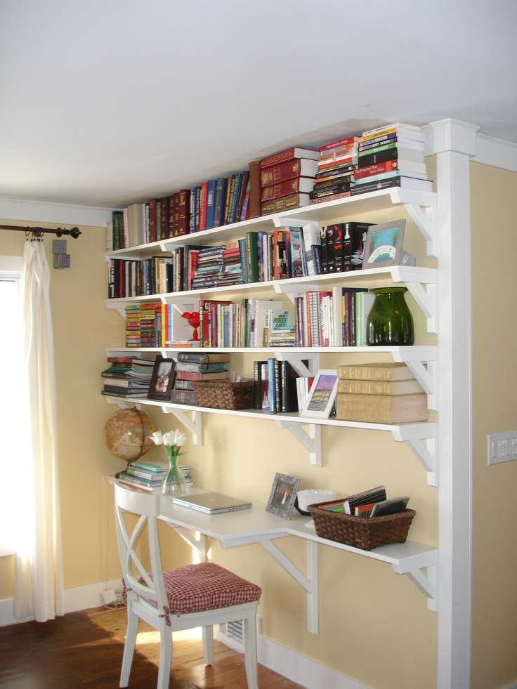 191 best images about big ideas for my small bedrooms on pinterest window seats guest - Small space shelves concept ...