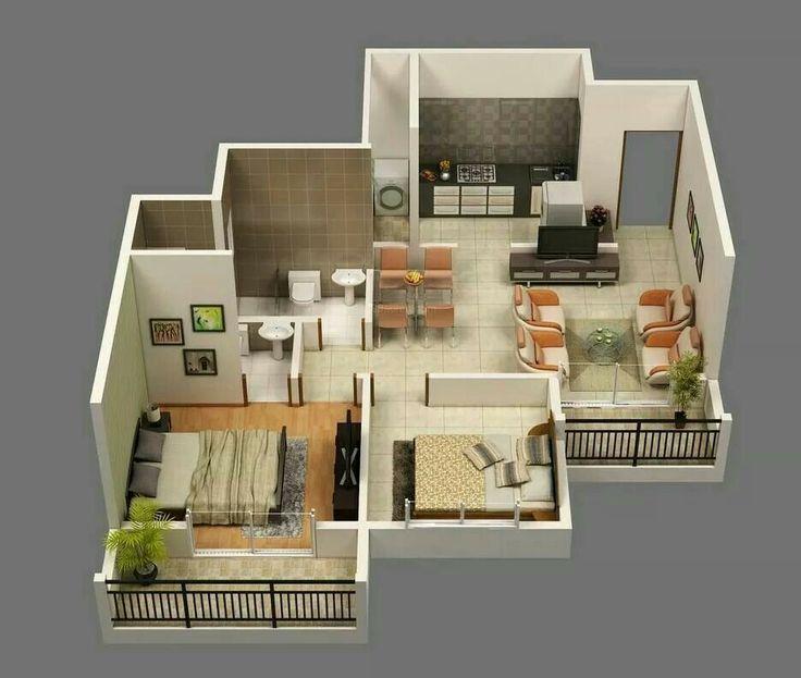 2 Bedroom Apartment Floor Plans