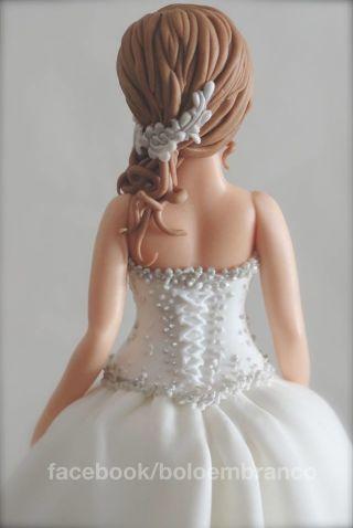 Bride (sugar paste modeling) - Cake by Bolo em Branco [by Margarida Duarte] - CakesDecor