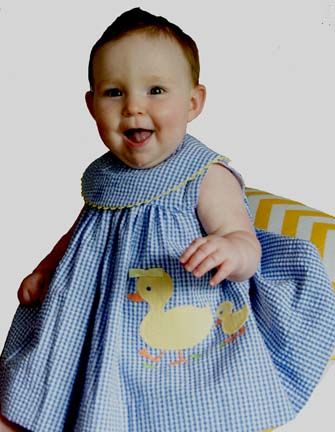 NEW Bailey Boys Royal Checked Dress with Appliqued Ducks (CC1202) from www.grammies-attic.com #EasterOutfits