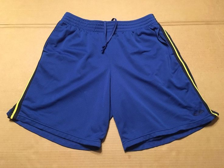 Champion Basketball Shorts With Pockets Blue Men's Size XL #Champion #Shorts