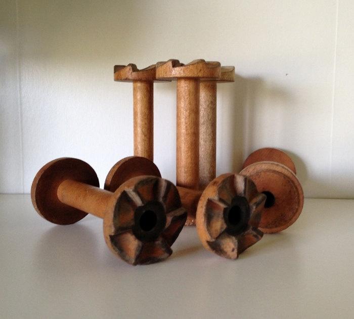 Vintage Ratchet Spool Teeny Tiny Old Yarn Mill Decorative Wooden Curiosity. $10.00, via Etsy.