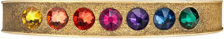 Multicolor crystal palm cuff
