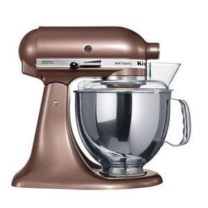 Robot sur socle Kitchenaid chocolat