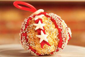 Rice Krispies Holiday Ornament #holidaybaking #recipe #ricekrispies #treats #ornament #decorating #holidayfun
