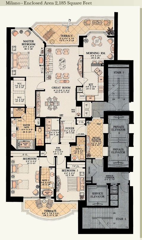 17 best images about apartment floor plans on pinterest for Miami mansion floor plans