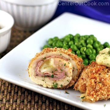 Thin slices of chicken, ham, and cheese - Chicken Cordon Bleu Rollups and they are absolutely delicious!
