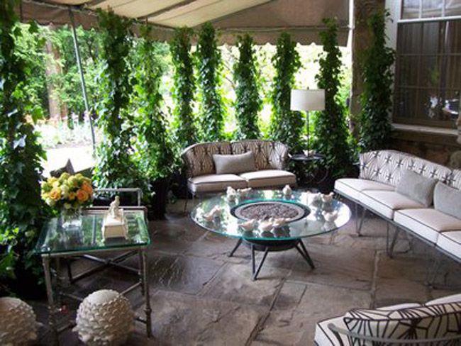 Desain Ruang Keluarga Dengan Taman Paling Indah Backyardoutdoor Interiorgardenrooftop Pinterest Interior Garden