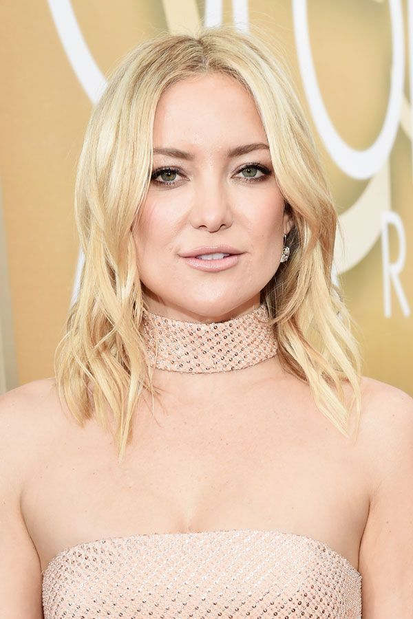 The Best Beauty Looks From The Golden Globes #refinery29  http://www.refinery29.com/2016/01/100905/golden-globes-2016-best-hair-makeup#slide-28  Kate Hudson may not stray too far from her California-girl look, but if it ain't broke, don't fix it, right? She sported soft, glowing makeup and her city's most popular hairstyle — the tousled lob — on the red carpet....