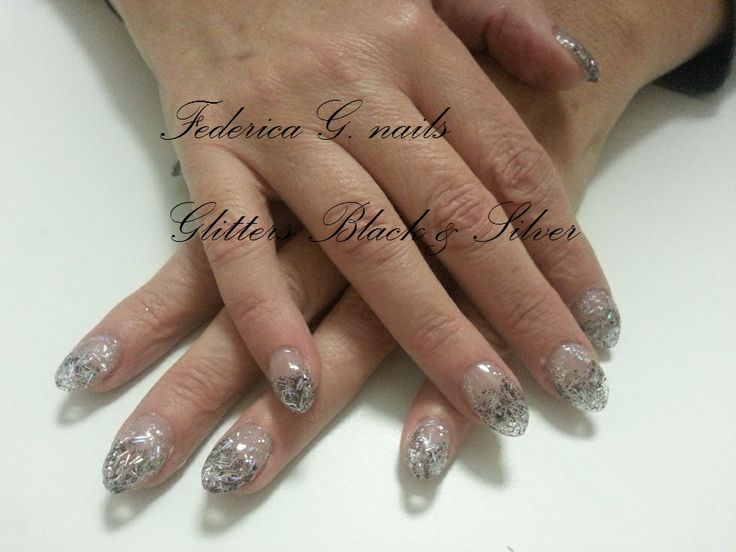 glitter and silver