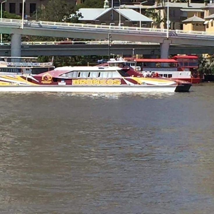 Brisbane Broncos NRL kitting out the City cat ferries