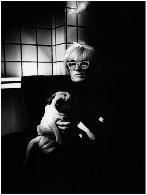 Andy Warhol and puggy