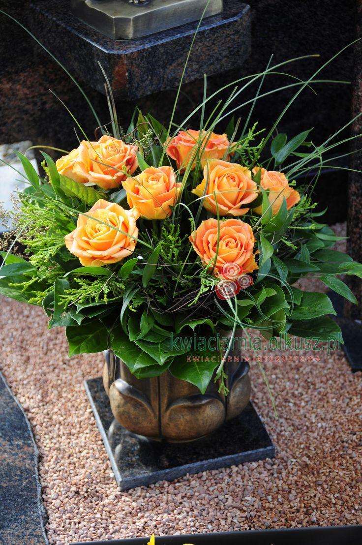 Wiązanka serce na cmentarz | Kwiaciarnia Olkusz