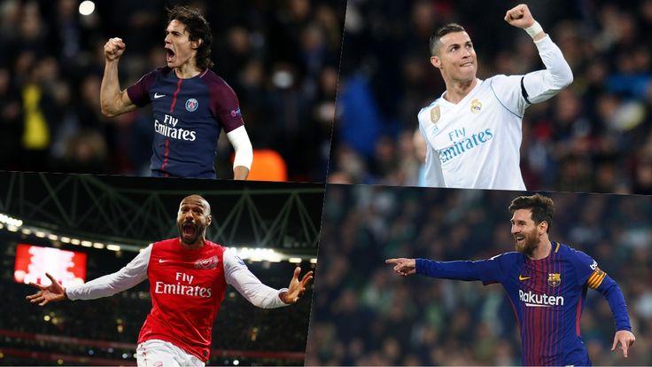 Cavani Cristiano Messi Pelé Los máximos goleadores de la historia de los equipos más laureados