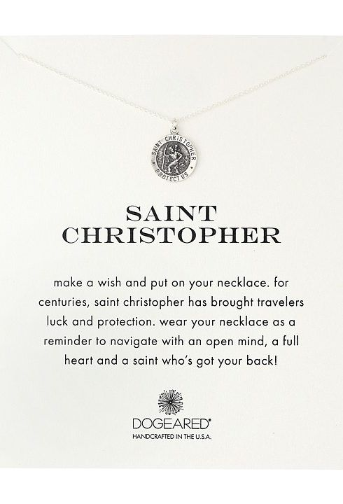 Dogeared Saint Christopher Travelers Reminder Necklace (Sterling Silver) Necklace - Dogeared, Saint Christopher Travelers Reminder Necklace, MS1988, Jewelry Necklace General, Necklace, Necklace, Jewelry, Gift, - Fashion Ideas To Inspire