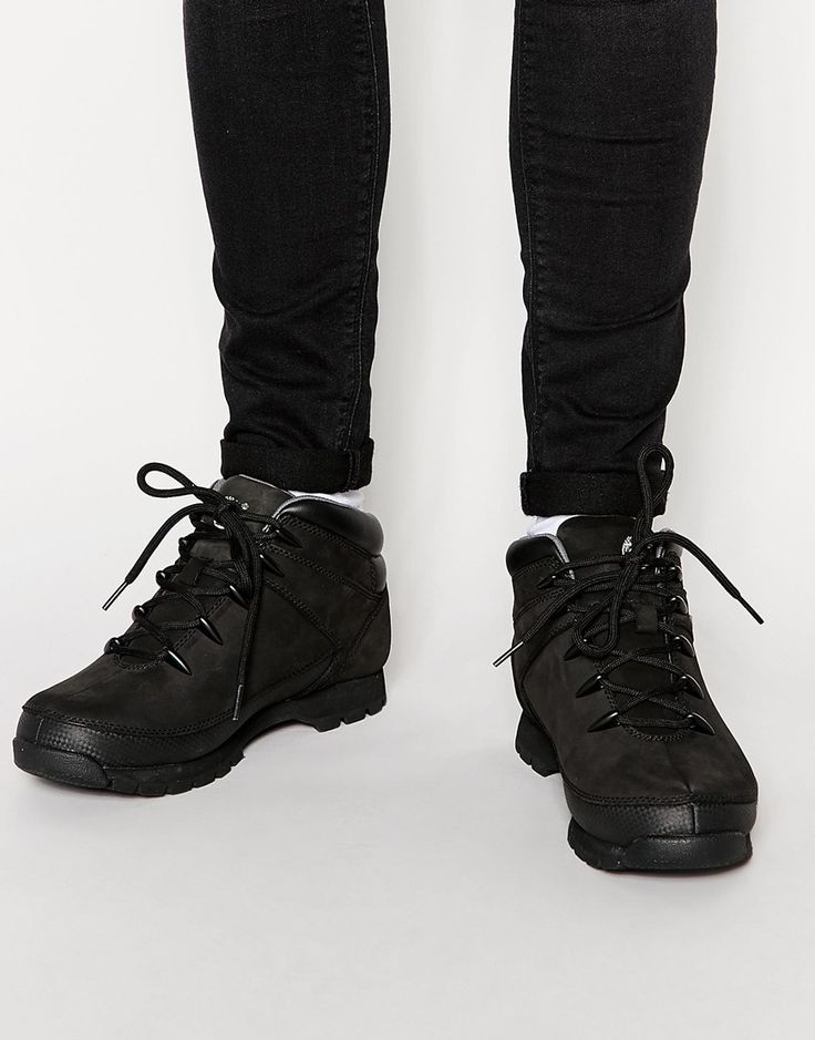 Timberland Hiker Euro Black Bottines Timberland Euro Bottines Black Hiker Timberland WDHIeE29Y