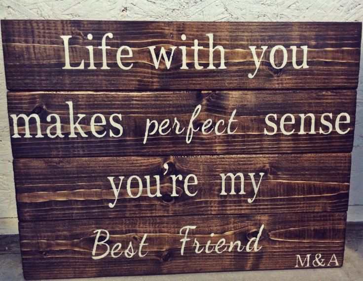 Life with you makes perfect sense. Tim McGraw lyrics pallet sign by TheRusticWoods on Etsy https://www.etsy.com/listing/216076230/life-with-you-makes-perfect-sense-tim