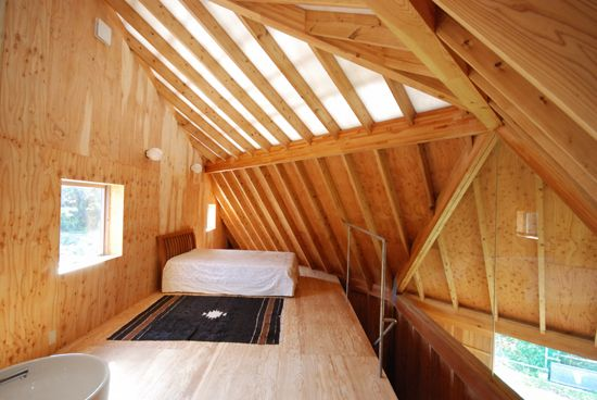 Atelier Bow Wow Pony House - Contorted timber ceiling
