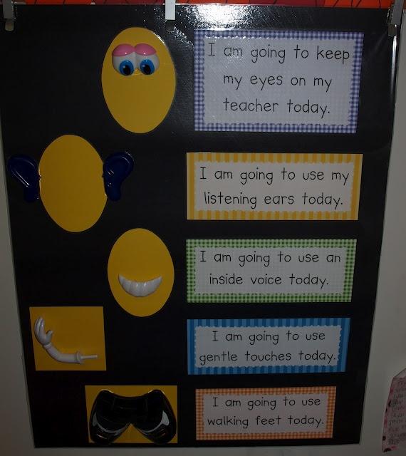 Deanna Jump's Classroom Behavior Chart with Mr. Potato Head Prompts as Visual Clues