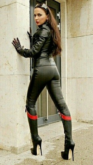 lady and leather on pinterest