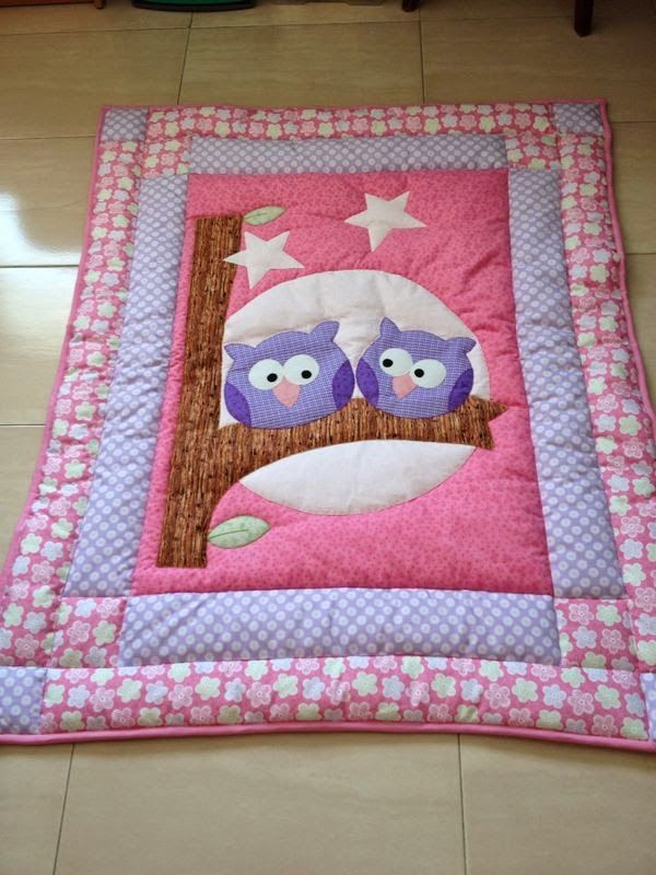 sweet owls on a blanket