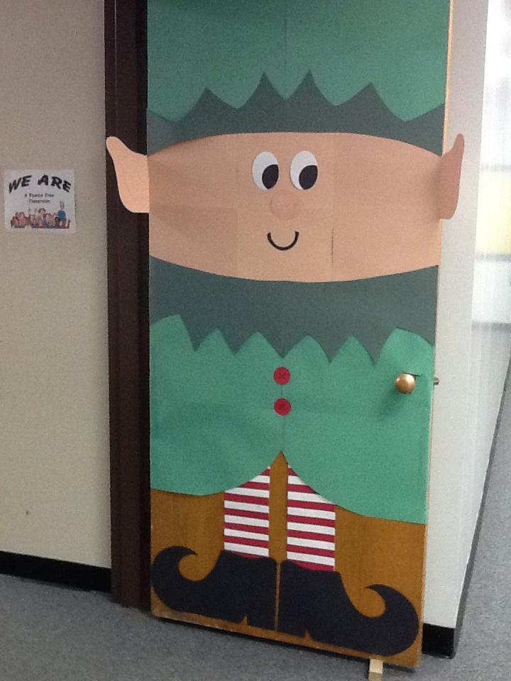 Elf Door Christmas Classroom Door Christmas Door Elf Door