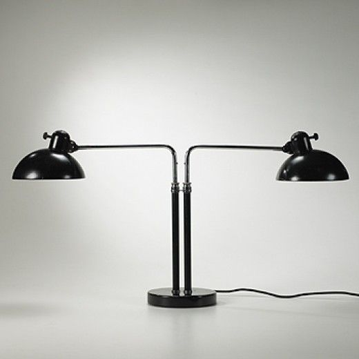 Christian Dell, #6580 Double Dell Table Lamp, 1930s.
