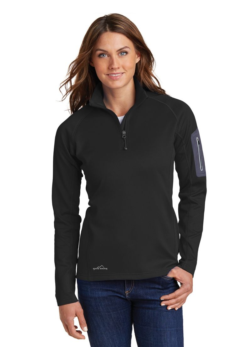 Eddie Bauer EB235 – Ladies 1/2-Zip Performance Fleece Jacket
