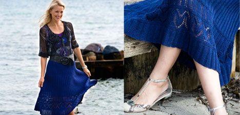 Sticka kjol med hålmönster - Hjemmet DK