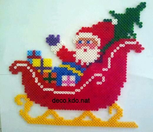 Christmas Santa hama perler beads by deco.kdo. nat