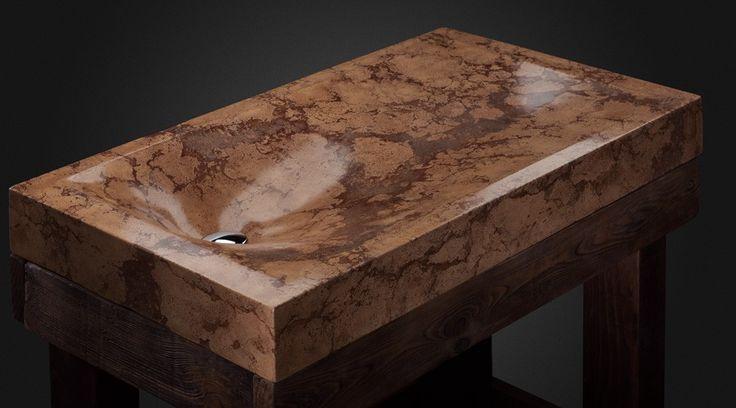 concrete sink by Pietra Danzare