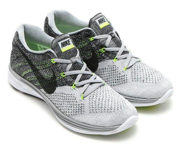 Big Discount 2018 Nike Flyknit Lunar 3 Wolf Grey Black White Volt 698181 009 Nike Flyknit Lunar 3 Nike Flyknit Racer Nike Flyknit
