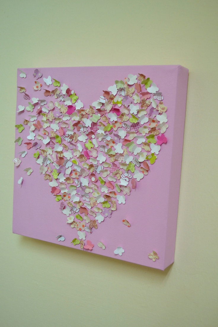 3d Butterfly Wall Art Pink Butterfly Art Baby Girl
