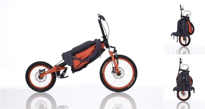 The Mountain Monk - The Folding Mountain Bike Designed To Be Carried As A Regular Backpack http://coolpile.com/rides-magazine/the-mountain-monk-the-folding-mountain-bike-designed-to-be-carried-as-a-regular-backpack/ via CoolPile.com - $1499 -  Bicycle, Camping, Gifts For Her, Gifts For Him, Hiking, Mountain Biking, Outdoors