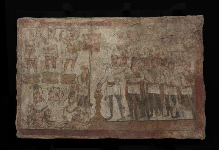 Tempio di Bel, Dura Europos (Siria), 239 circa. Fresco a secco. Sacrificio di Julius Terentius. New Haven, Yale University Art Gallery