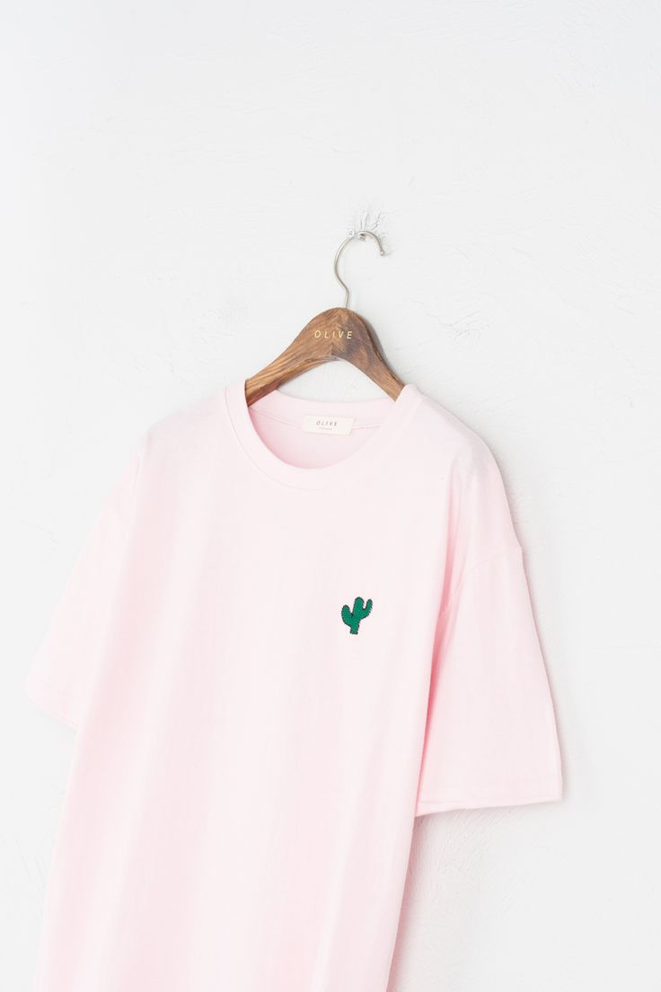 How sweet... Cactus Embroidered Tee in Pink from Olive.